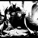 Batman brooding